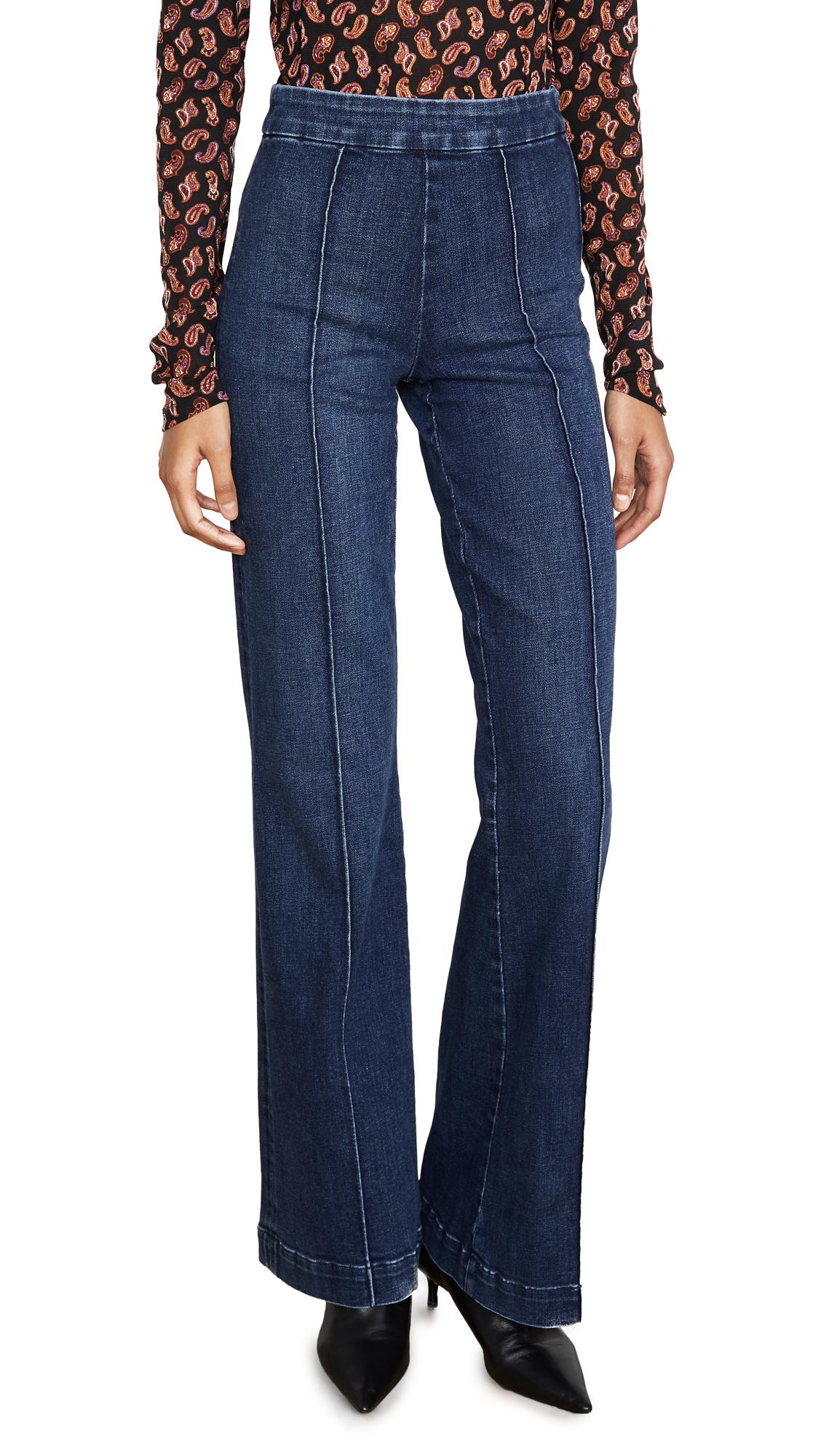 Buy ALICE + OLIVIA JEANS online - photo of ALICE + OLIVIA JEANS Jalisa Trouser Jeans