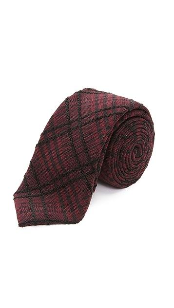 Alexander Olch The Jack Raised Plaid Cotton Tie