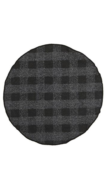 Alexander Olch The Tuxedo Wool Gingham Pocket Round