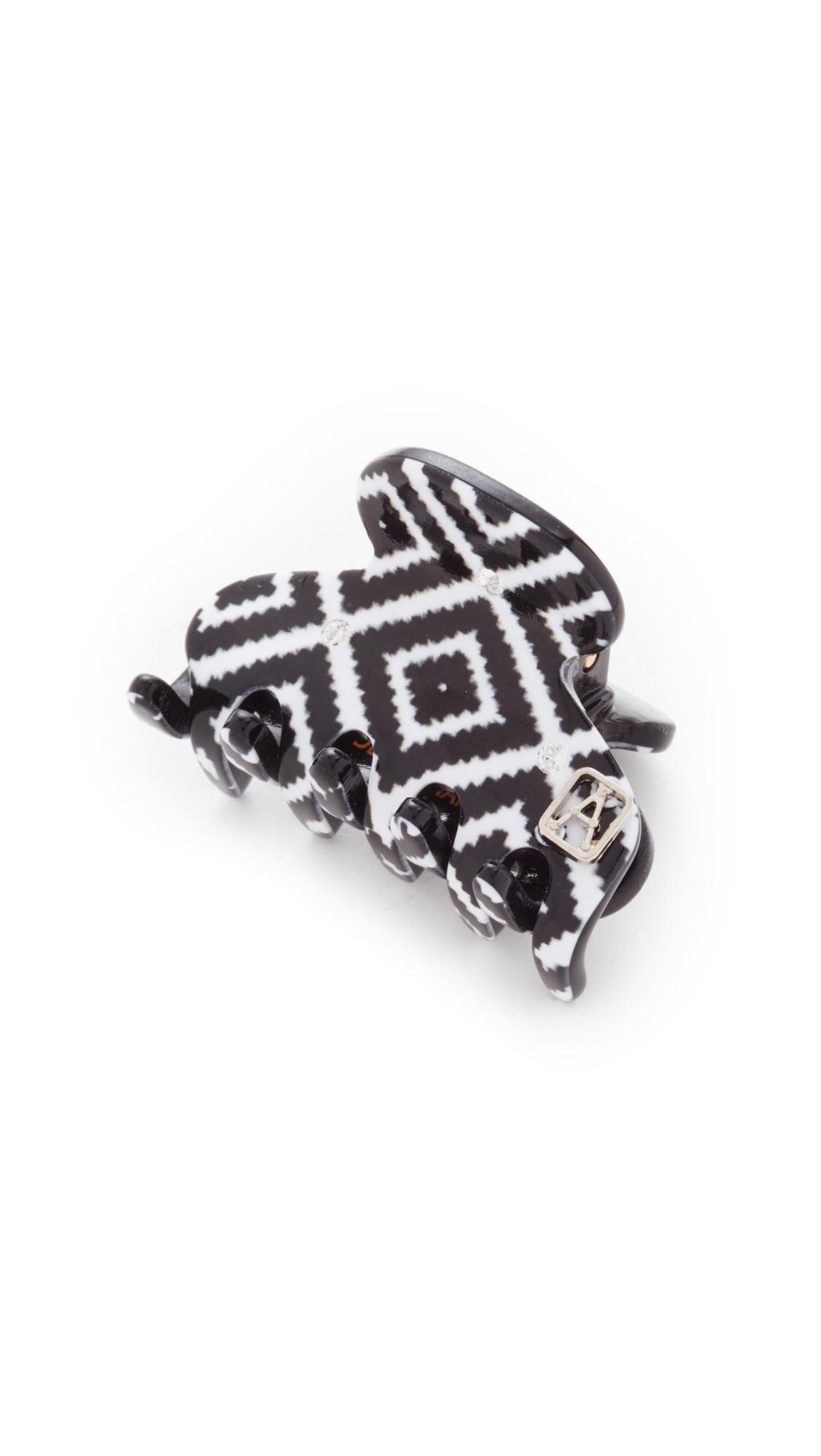 Alexandre de Paris Ameridan Jaw Hair Clip - Black/White