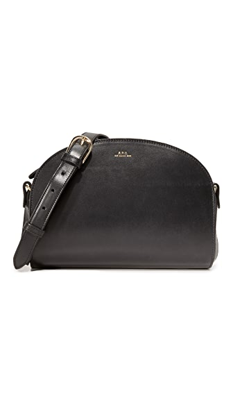 A.P.C. Half Moon Bag - Black