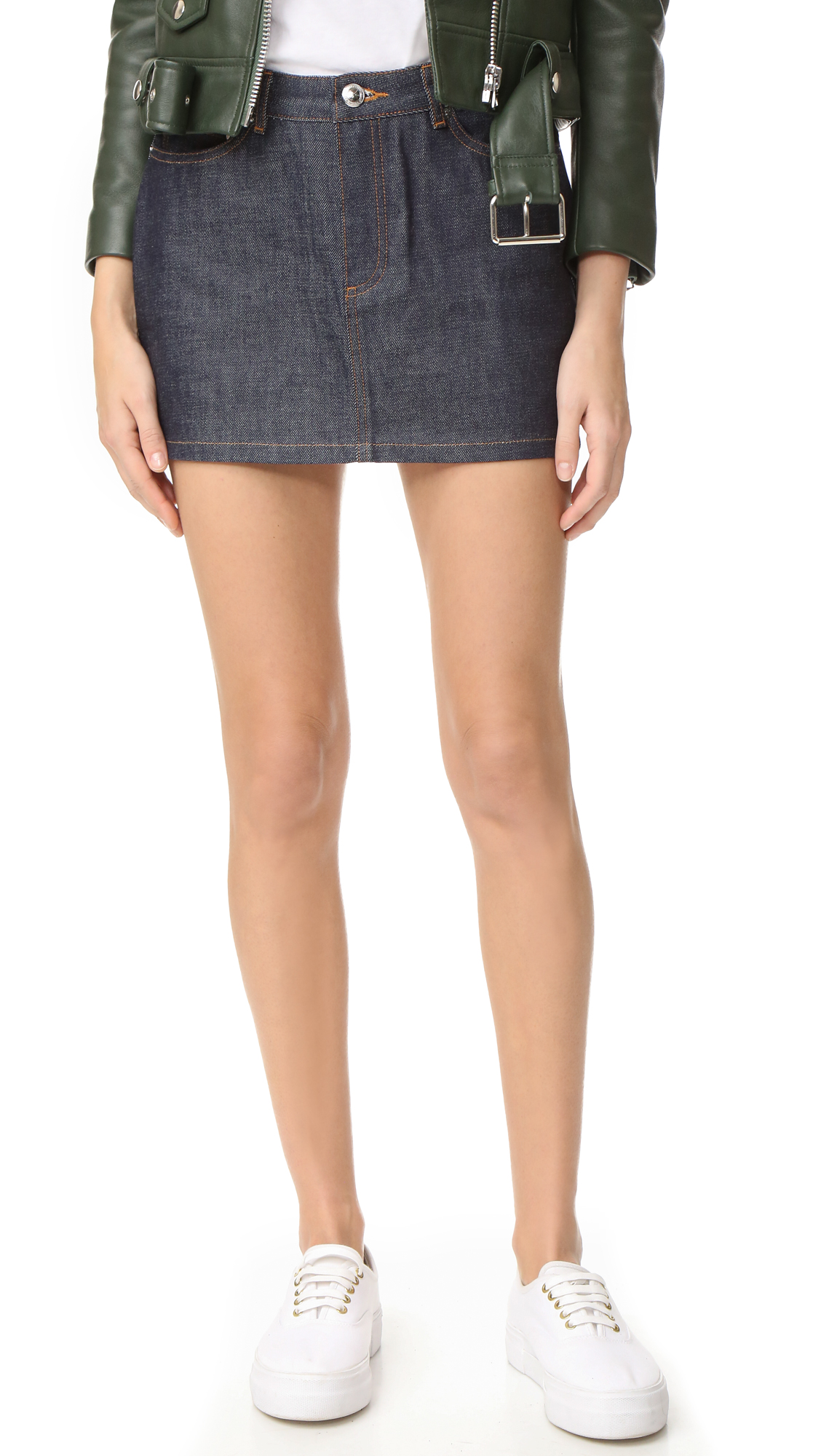 A.P.C. Denim Miniskirt - Indigo Brut at Shopbop
