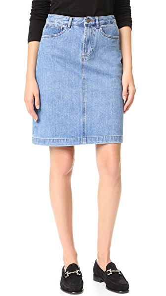 A.P.C. High Standard Skirt - Bleu at Shopbop