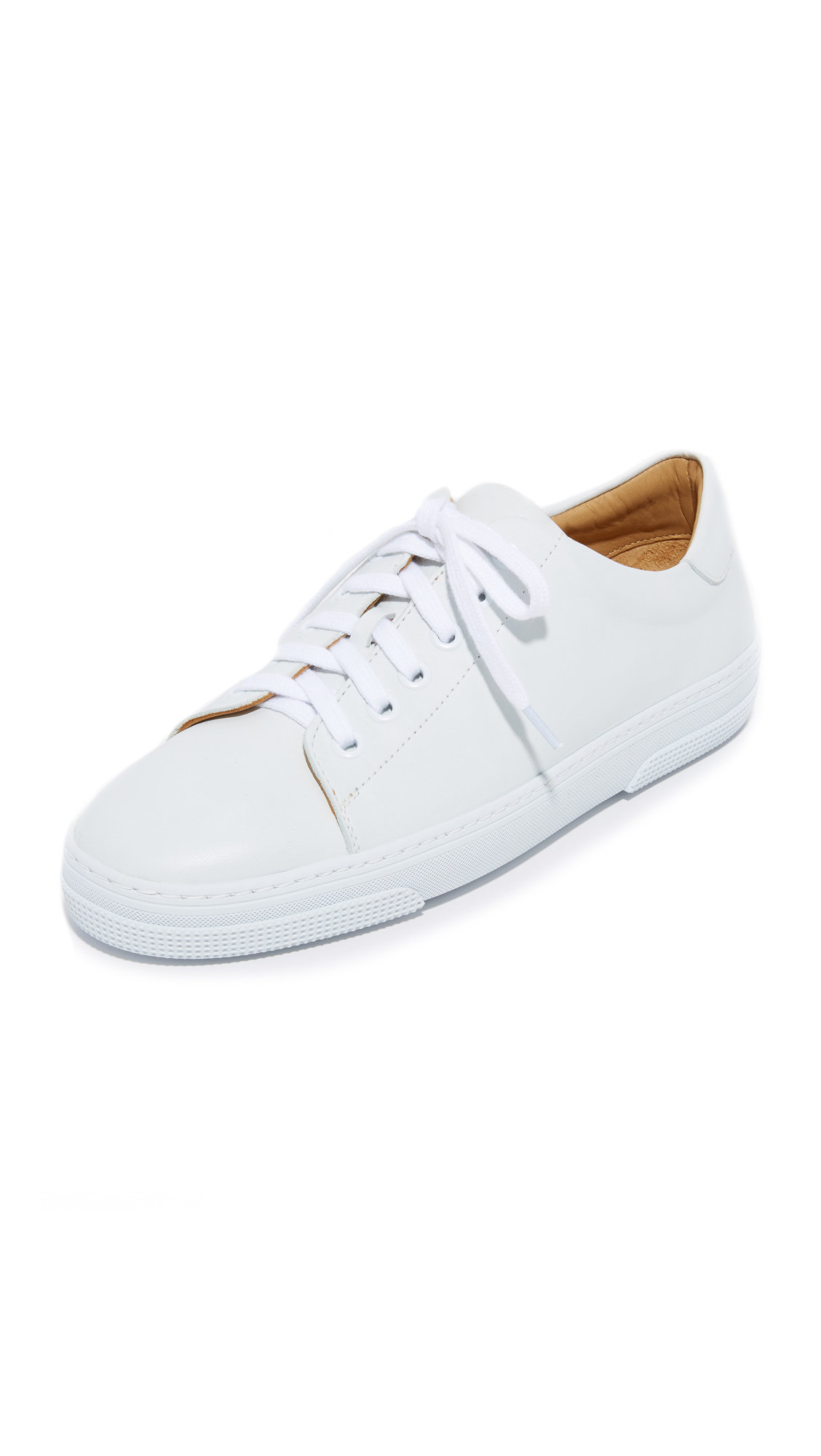 A.P.C. Steffi Tennis Sneakers - Blanc at Shopbop
