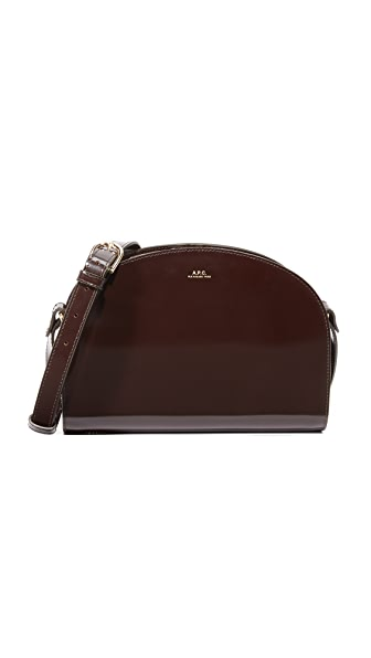 A.P.C. Half Moon Bag - Brown