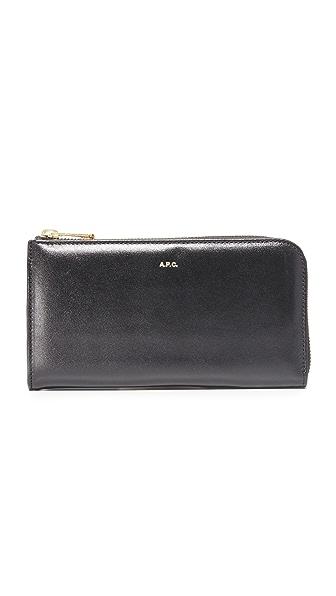 A.P.C. Zip Around Wallet