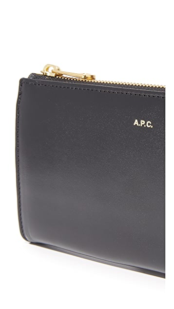A.P.C. Zip Around Wallet