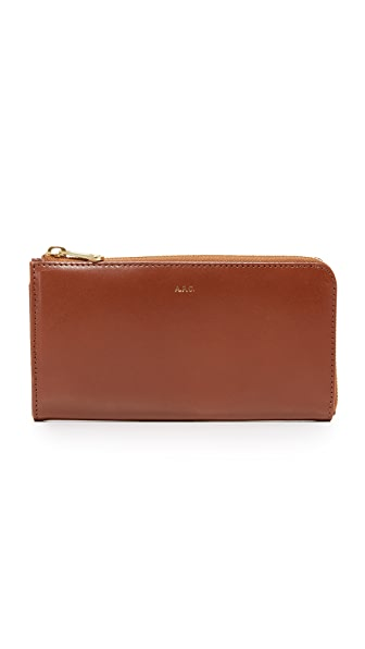 A.P.C. Long Zip Wallet