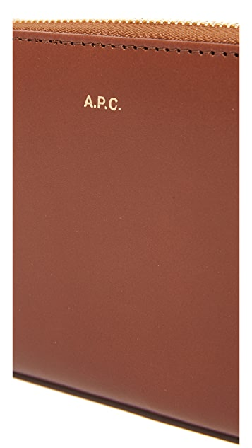A.P.C. Long Zip Wallet