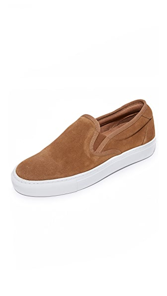 A.P.C. Suede Slip On Sneakers