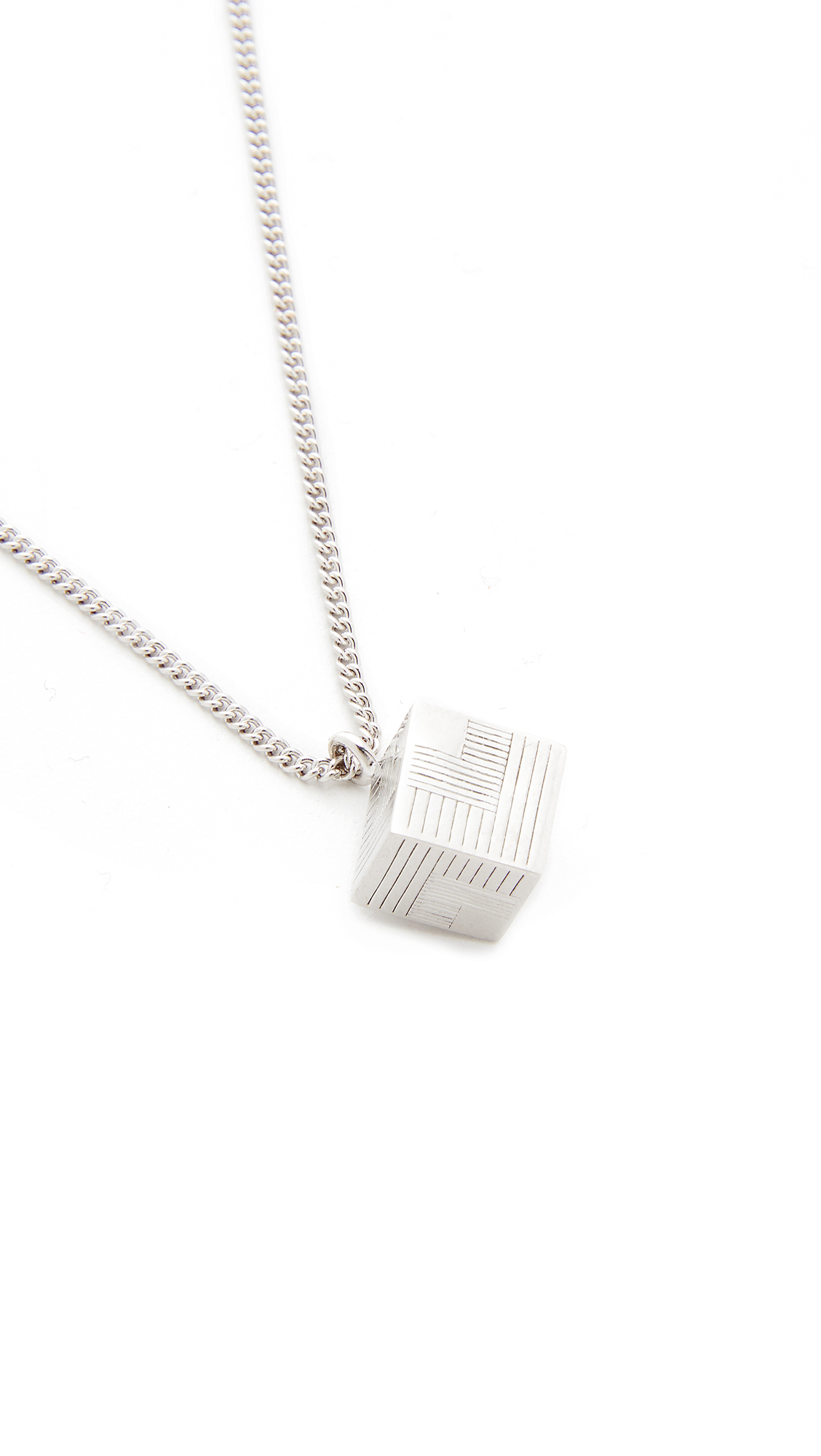 A.P.C. Collier Rubik Necklace in Silver