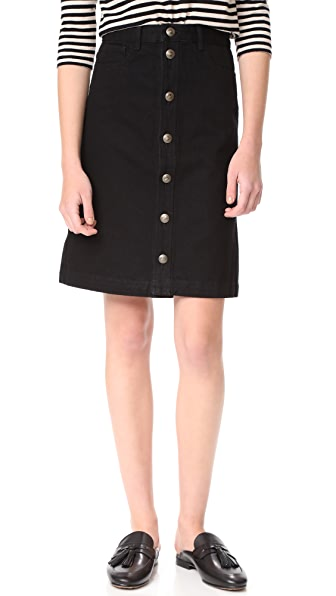 A.P.C. Therese Skirt - Noir