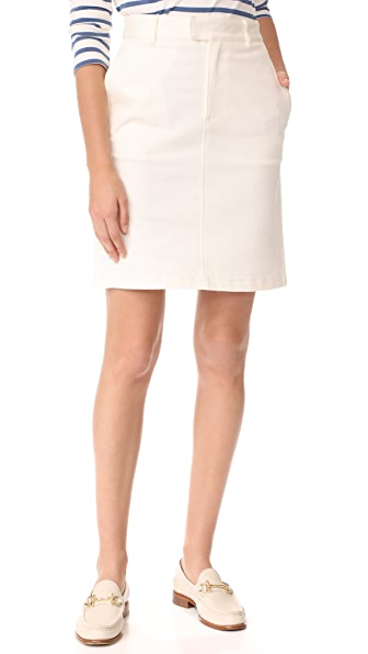 A.P.C. Sandy Skirt In Blanc Casse