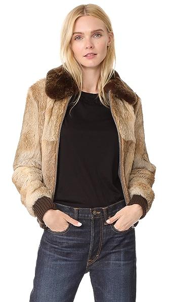 A.P.C. Brigit Fur Jacket In Beige
