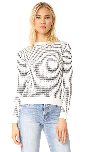 A.P.C. Striped Sweater - Blanc Casse