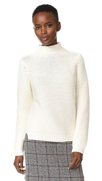 A.P.C. Seldovia Turtleneck Sweater In Blanc Casse