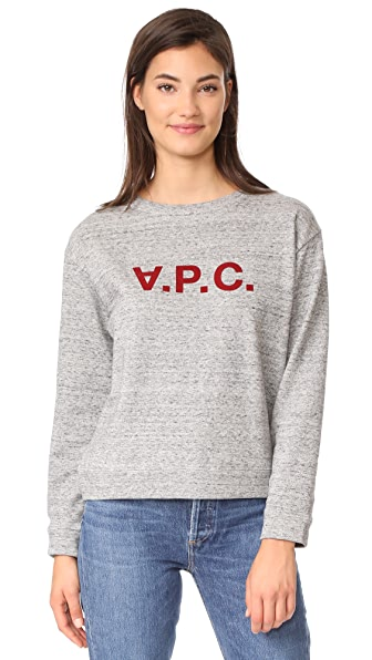 A.P.C. Hiver 1987 Ethel Sweatshirt In Gris Chine