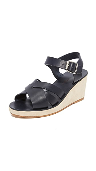 A.P.C. Debbie Sandals - Dark Navy