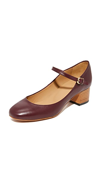 A.P.C. Victoria Babies Pumps In Bordeaux