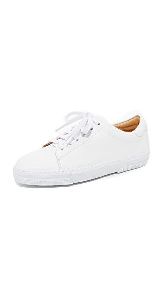 A.P.C. Steffi Tennis Sneakers In Blanc