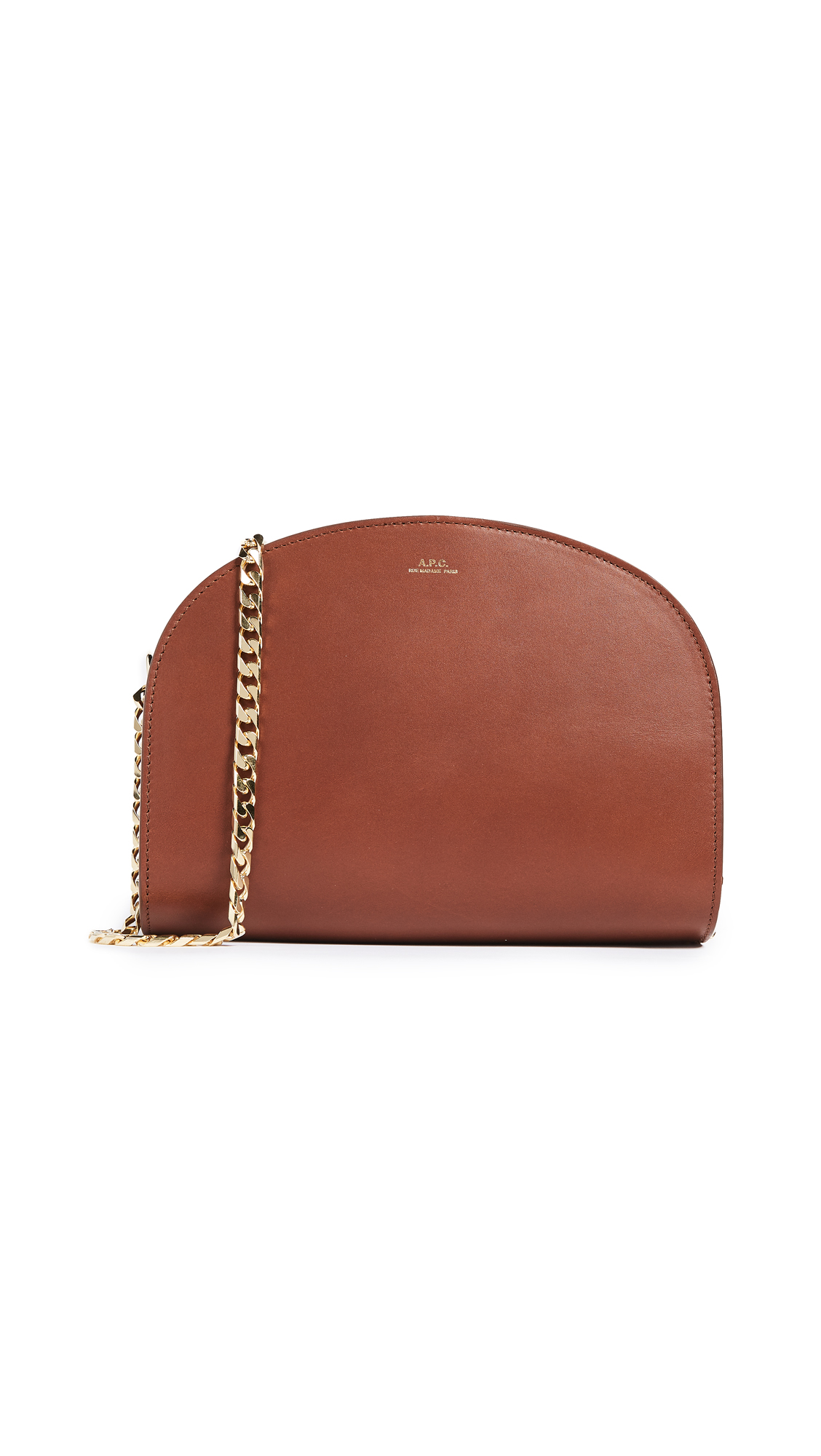 A.P.C. Luna Half Moon Bag - Marron