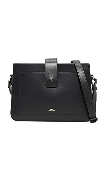 A.P.C. Albane Shoulder Bag - Noir
