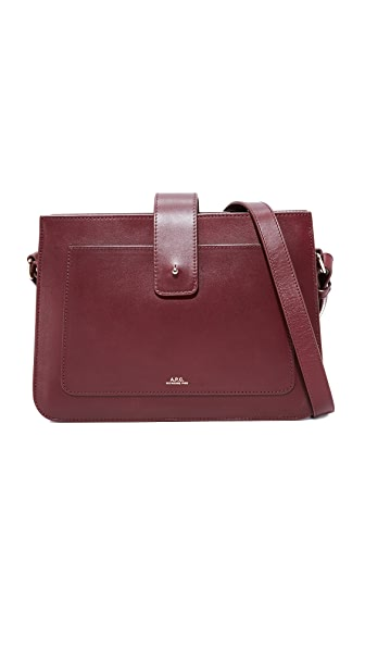 A.P.C. Albane Shoulder Bag - Lie De Vin