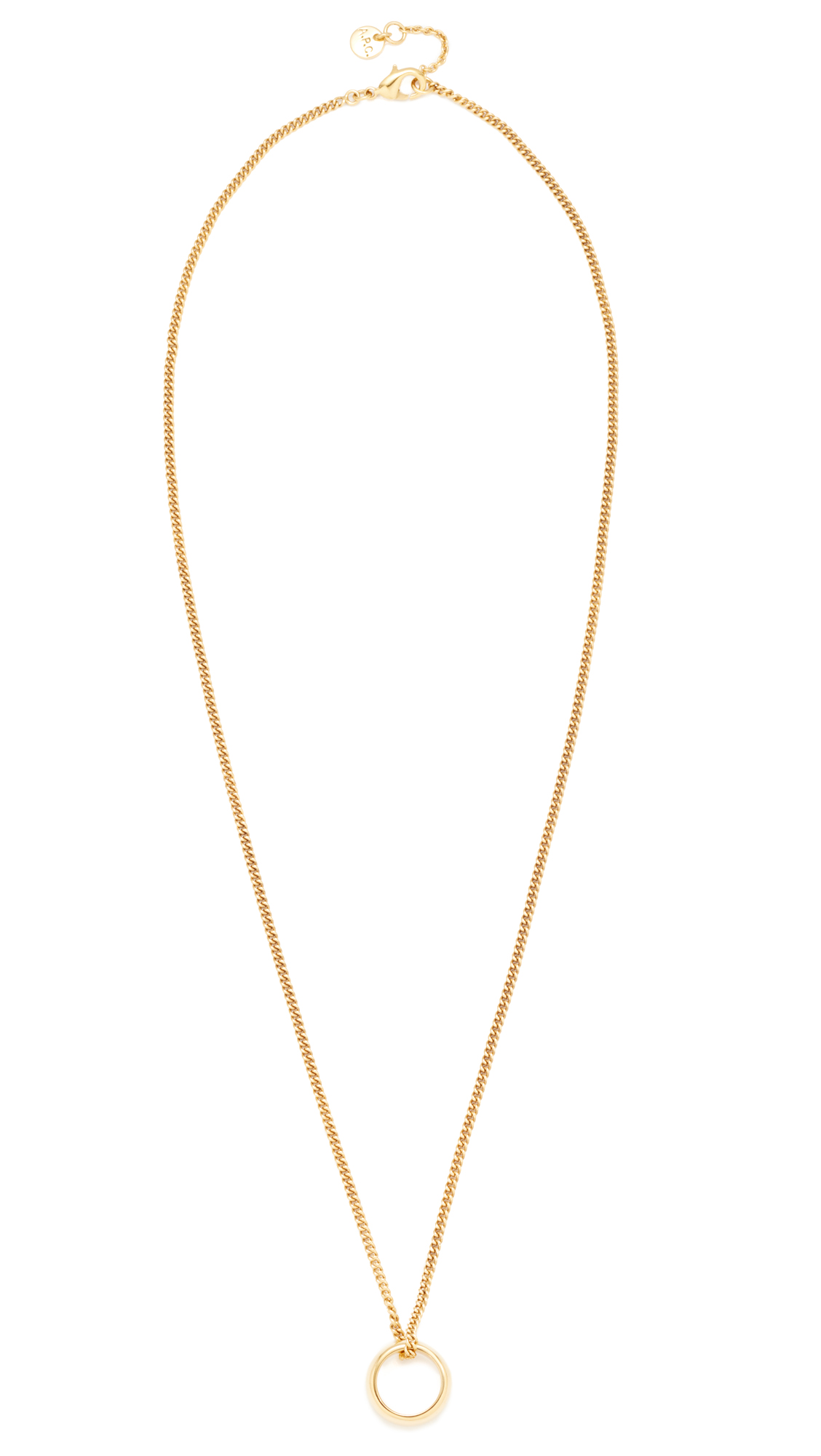apc smiley a normal jewelry necklace p product sad c gold metallic in lyst