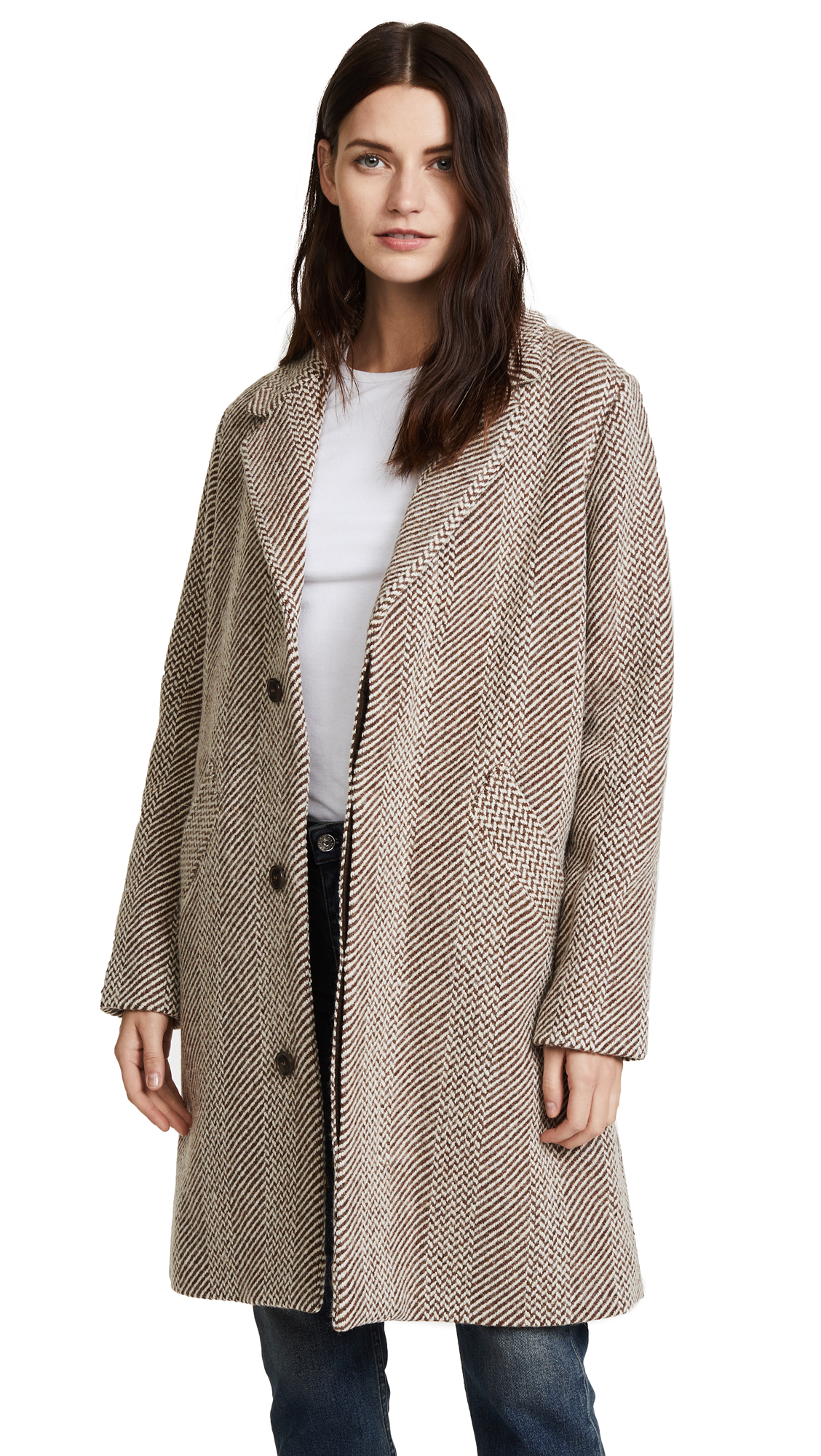 A.P.C. Silvana Tweed Coat - Noisette