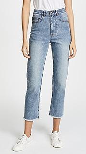 A.P.C. 流苏设计标准剪裁牛仔裤