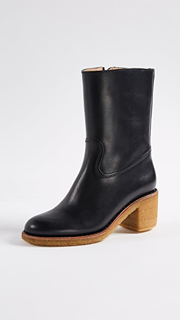 A.P.C. Paz Boots with Block Heel