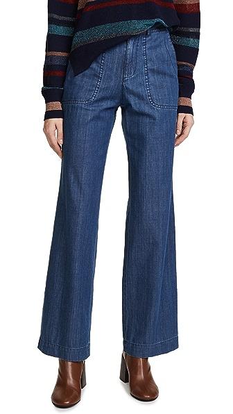 A.P.C. Seaside Trouser Jeans In Indigo Delave