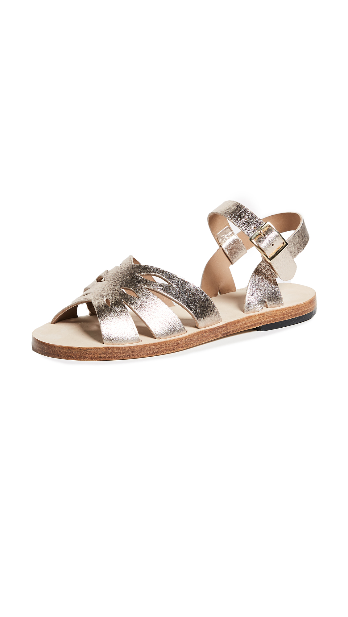 A.P.C. Lilia Sandals - Or Pale