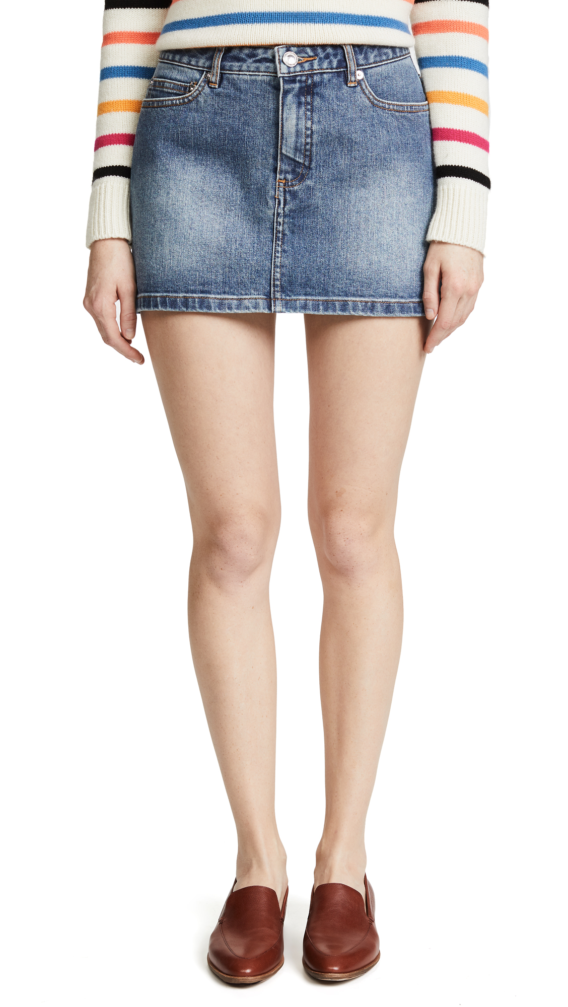 A.P.C. Mini Skirt In Indigo Delave