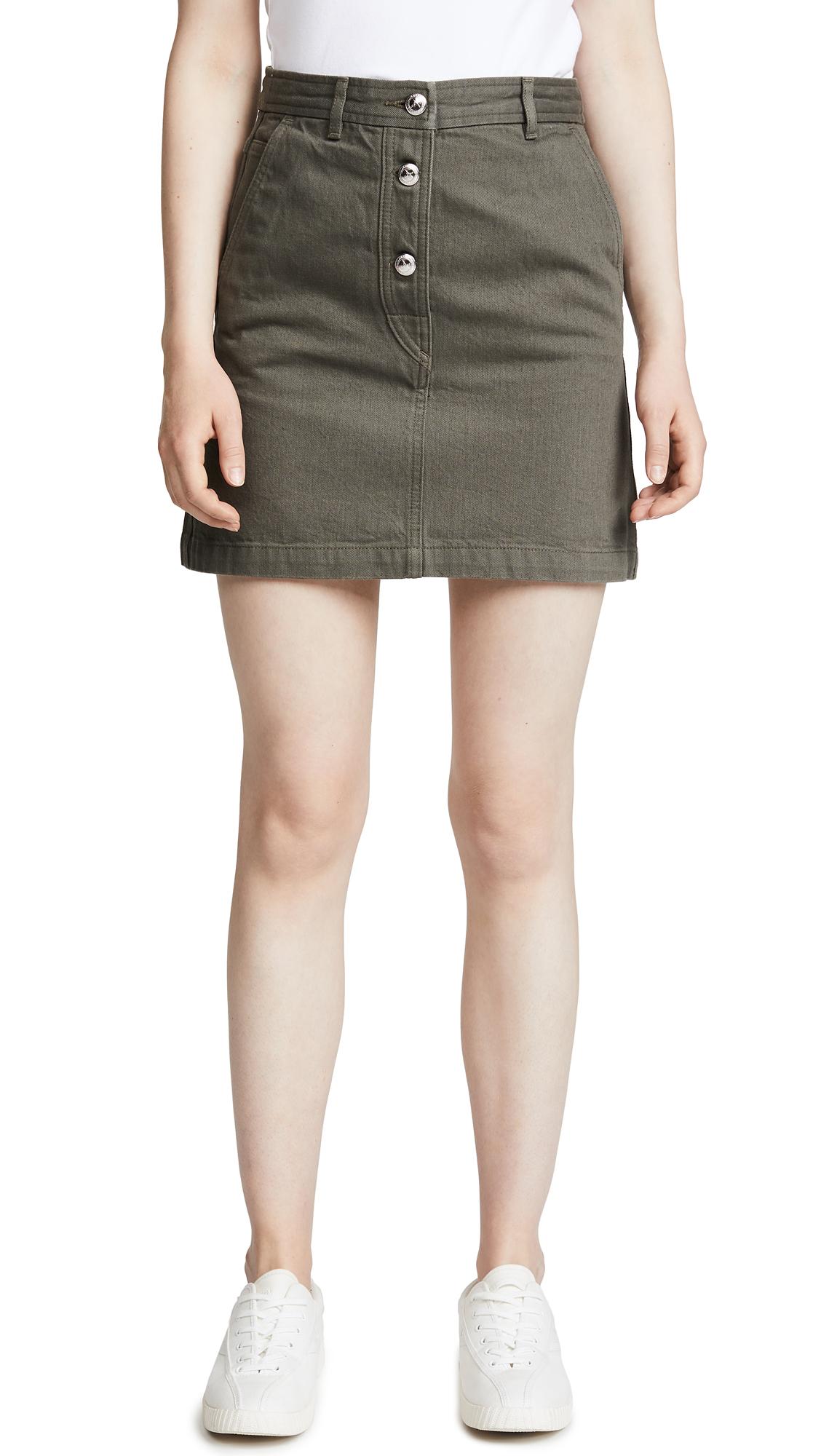 A.P.C. Adele Miniskirt In Kaki