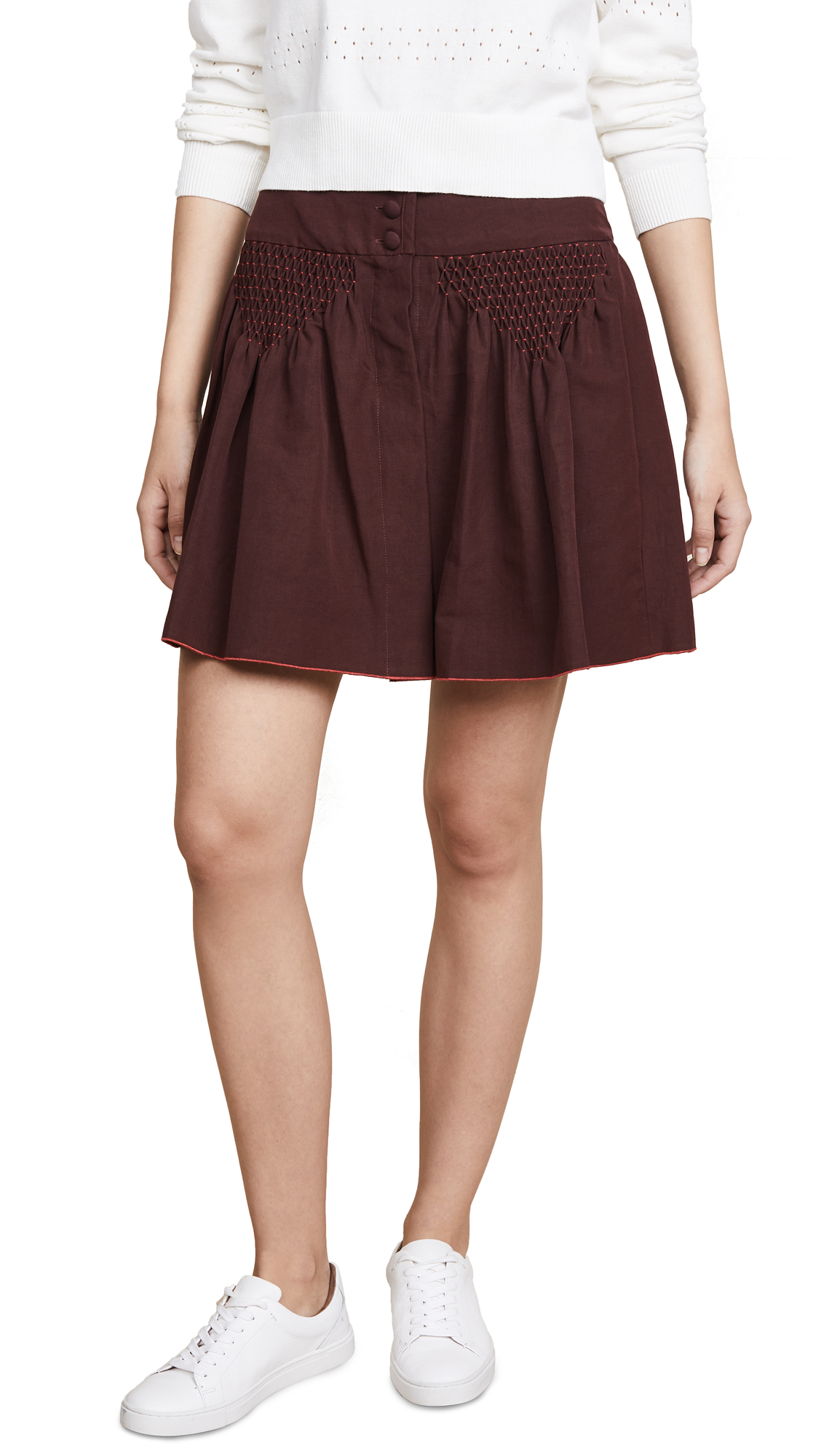 A.P.C. Morgan Skirt In Bordeaux
