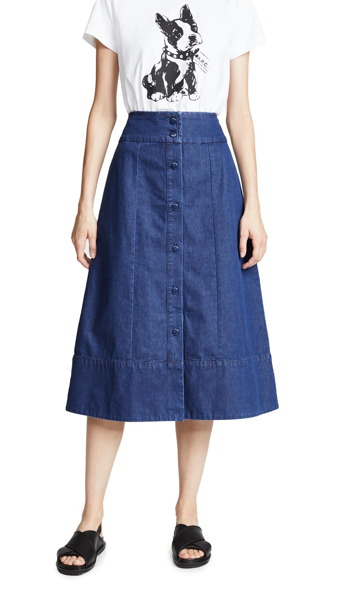 A.P.C. Knight Skirt In Indigo