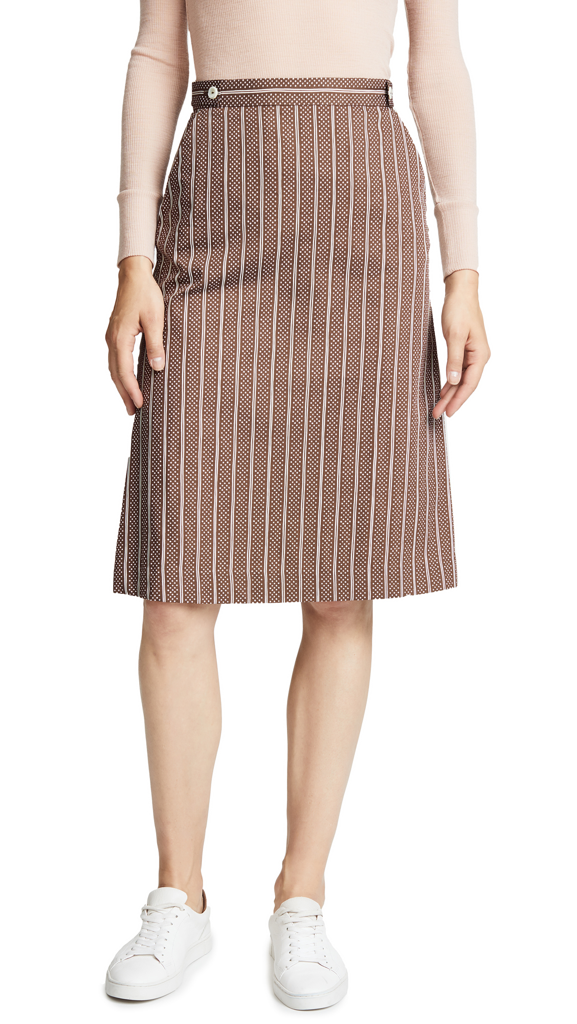 A.P.C. Janet Skirt In Marron Fonce