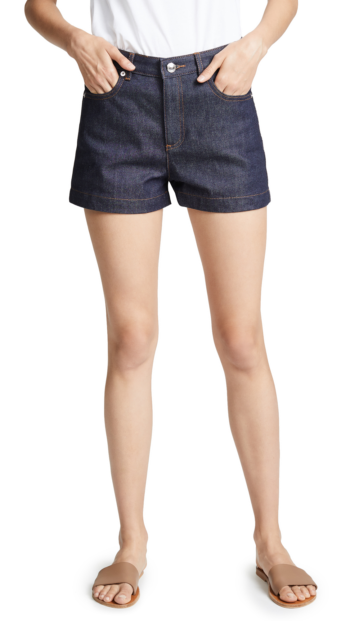 A.P.C. High Standard Shorts In Indigo