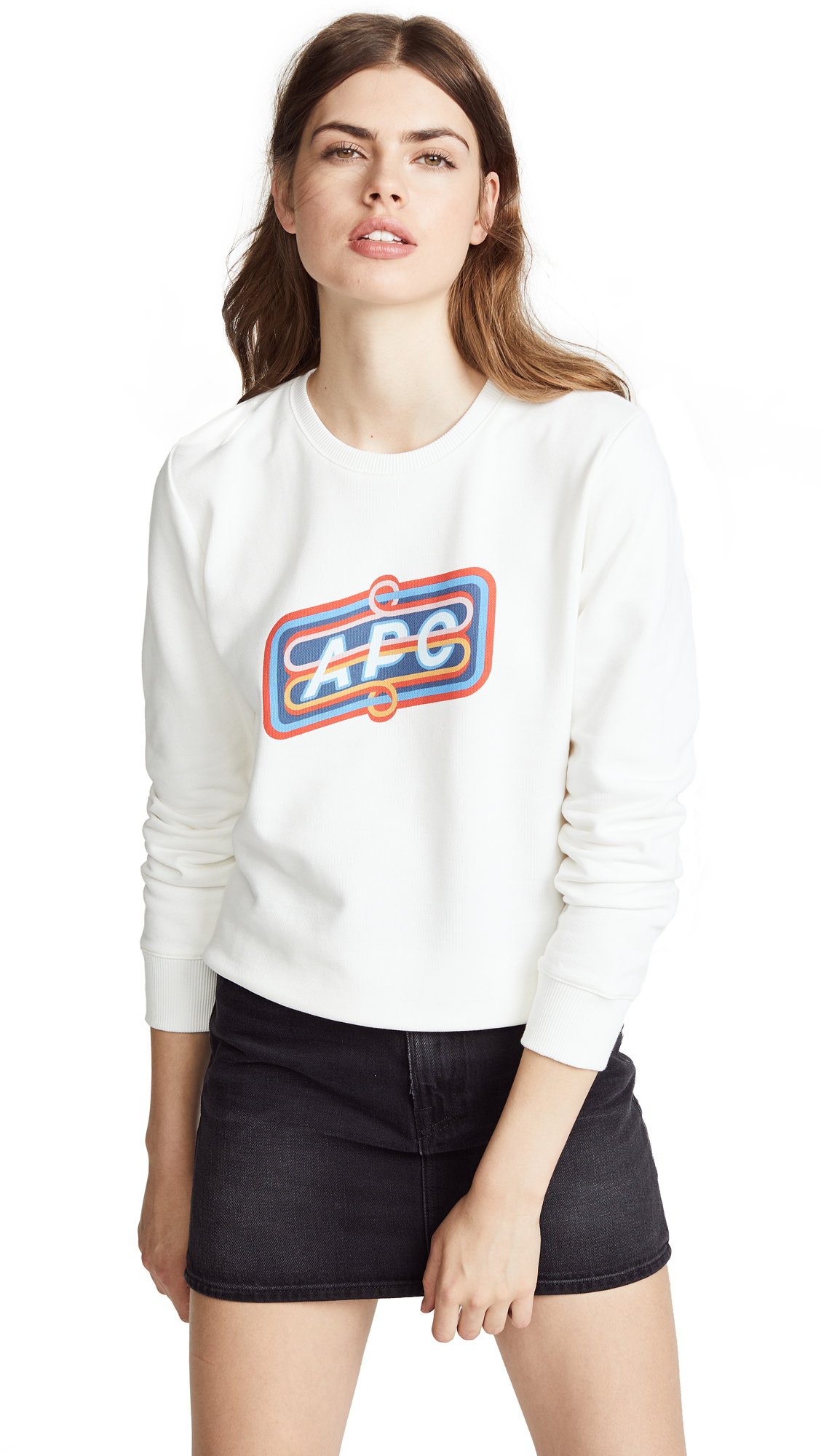 A.P.C. Norman Sweatshirt In Blanc
