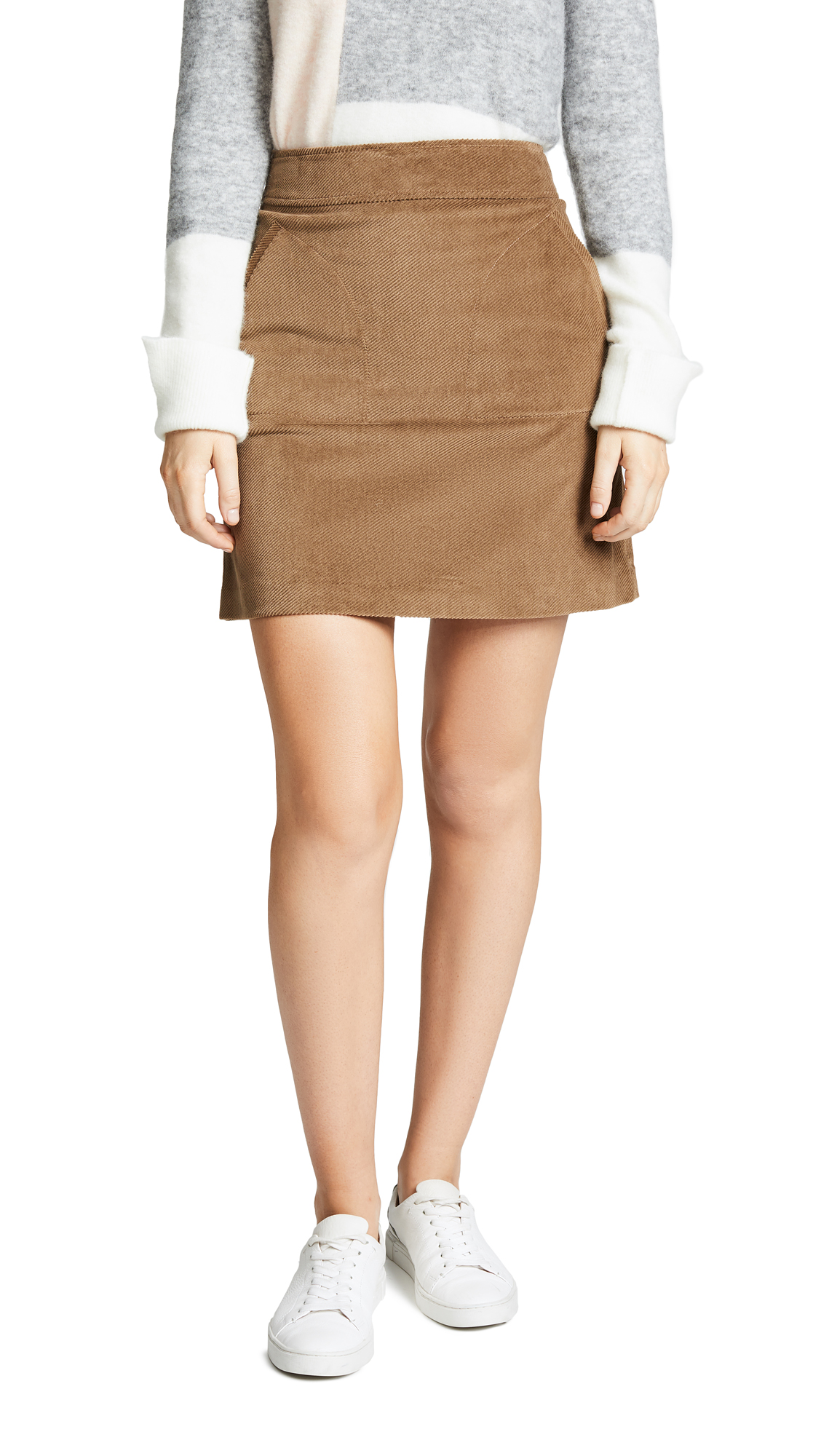 A.P.C. Jupe Shanya Skirt In Beige Fonce
