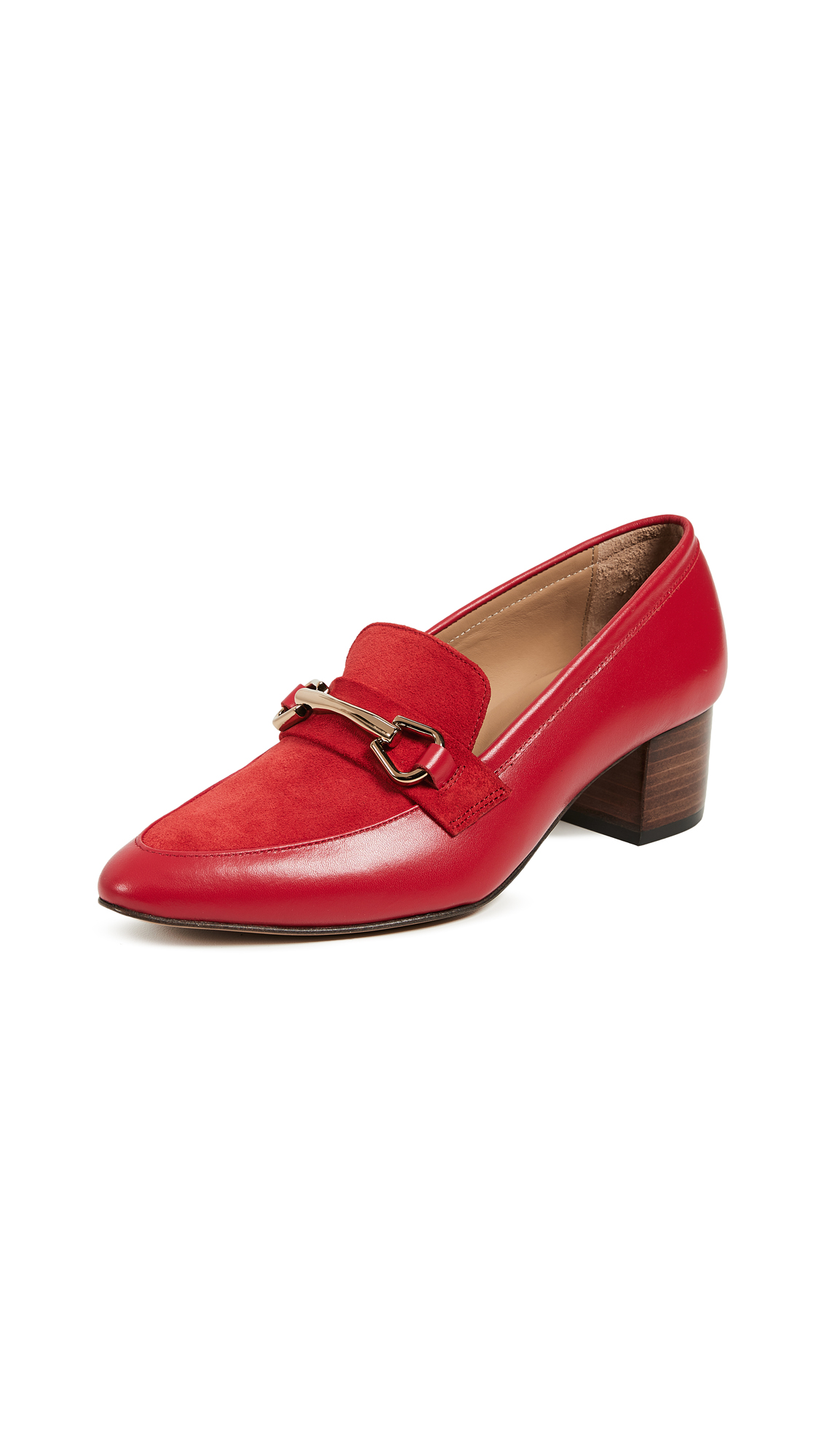 A.P.C. Marie Moccasins - Rouge