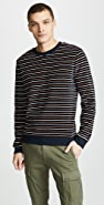A.P.C. Striped Crew Neck Sweatshirt