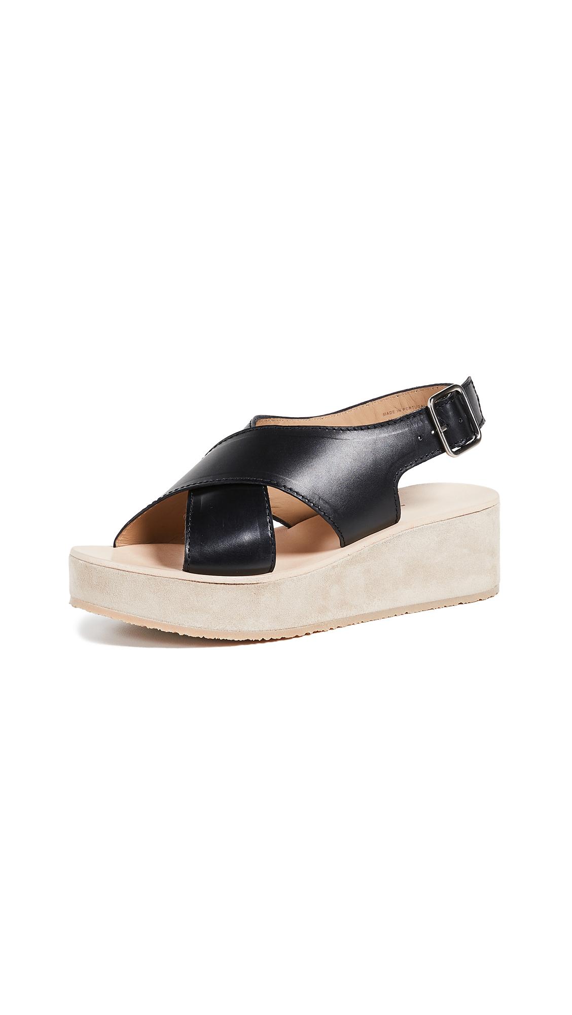 A.P.C. Mae Sandals - Lzz Noir