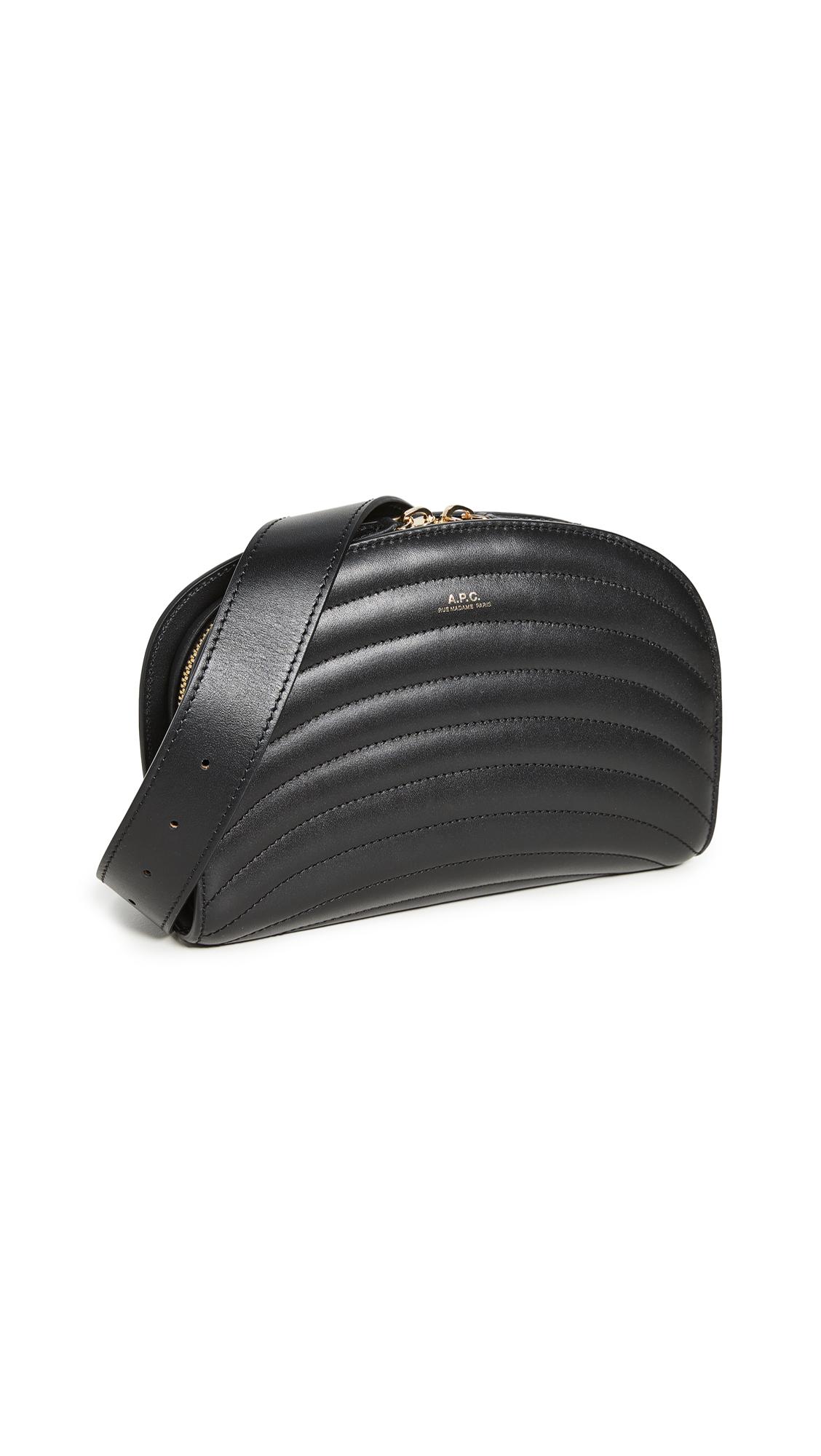Buy A.P.C. online - photo of A.P.C. Ceinture Demi-Lune Belt Bag