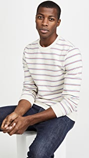 A.P.C. Multi Stripe Crew Neck Sweatshirt