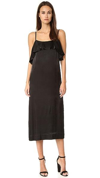 Apiece Apart Pedernal Slip Dress - Black