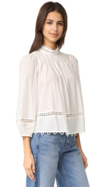 Apiece Apart Tula High Neck Blouse
