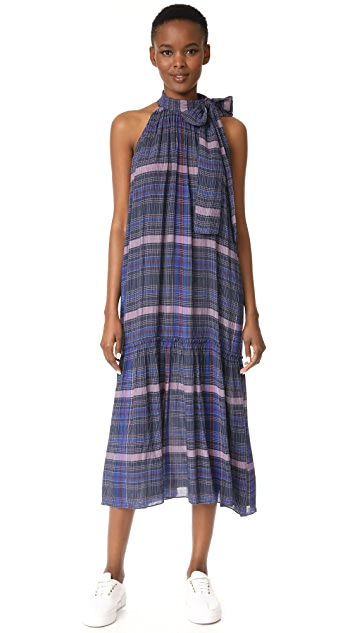 Apiece Apart Solazure Tie Neck Dress