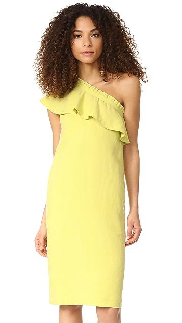 Apiece Apart Reina One Arm Ruffle Dress